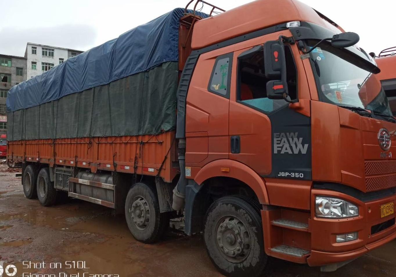 一汽解放J6P重卡 标载型 载货车  350匹 2016年12月 8x4