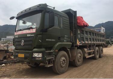 陕汽德龙新M3000 自卸车  375匹 2015年04月 8x4