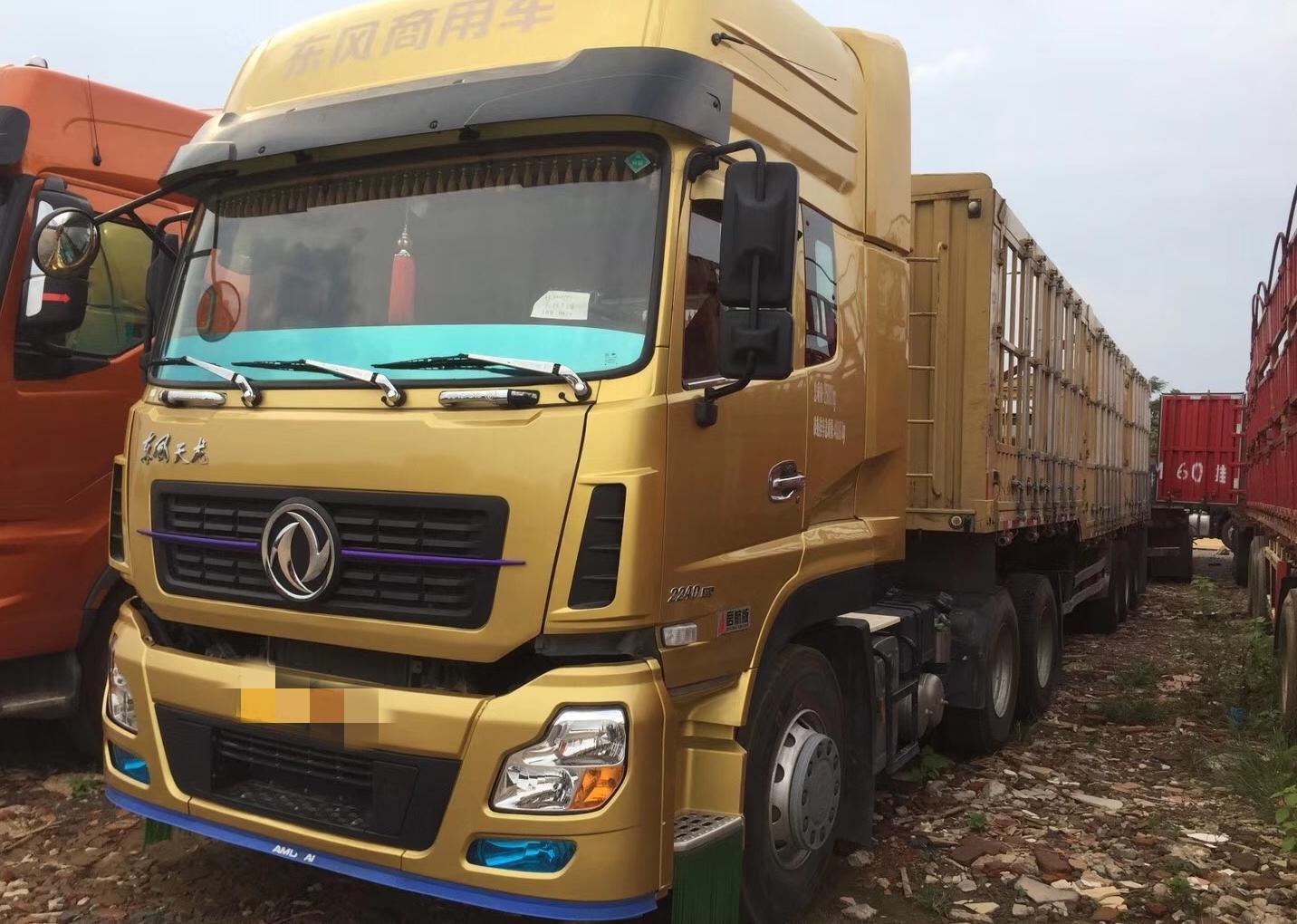 东风天龙 载货车  375匹 2016年07月 8x4