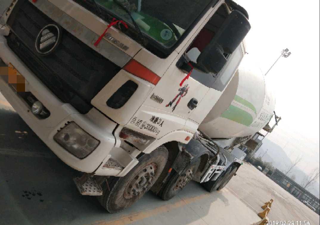 福田欧曼ETX 混凝土搅拌车  380匹 2014年05月 8x4