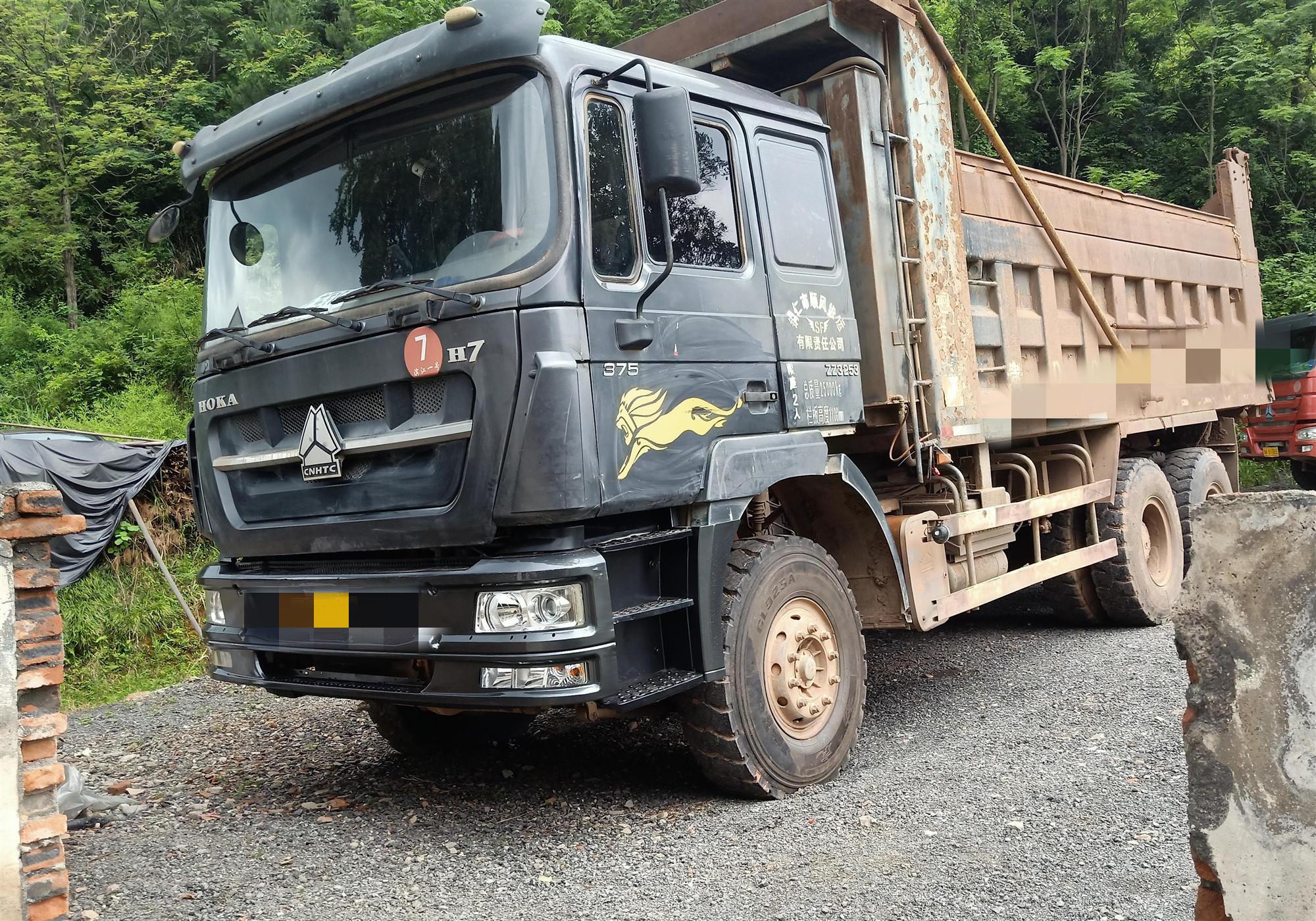 中國重汽HOKA 自卸車  380匹 2014年08月 4x2