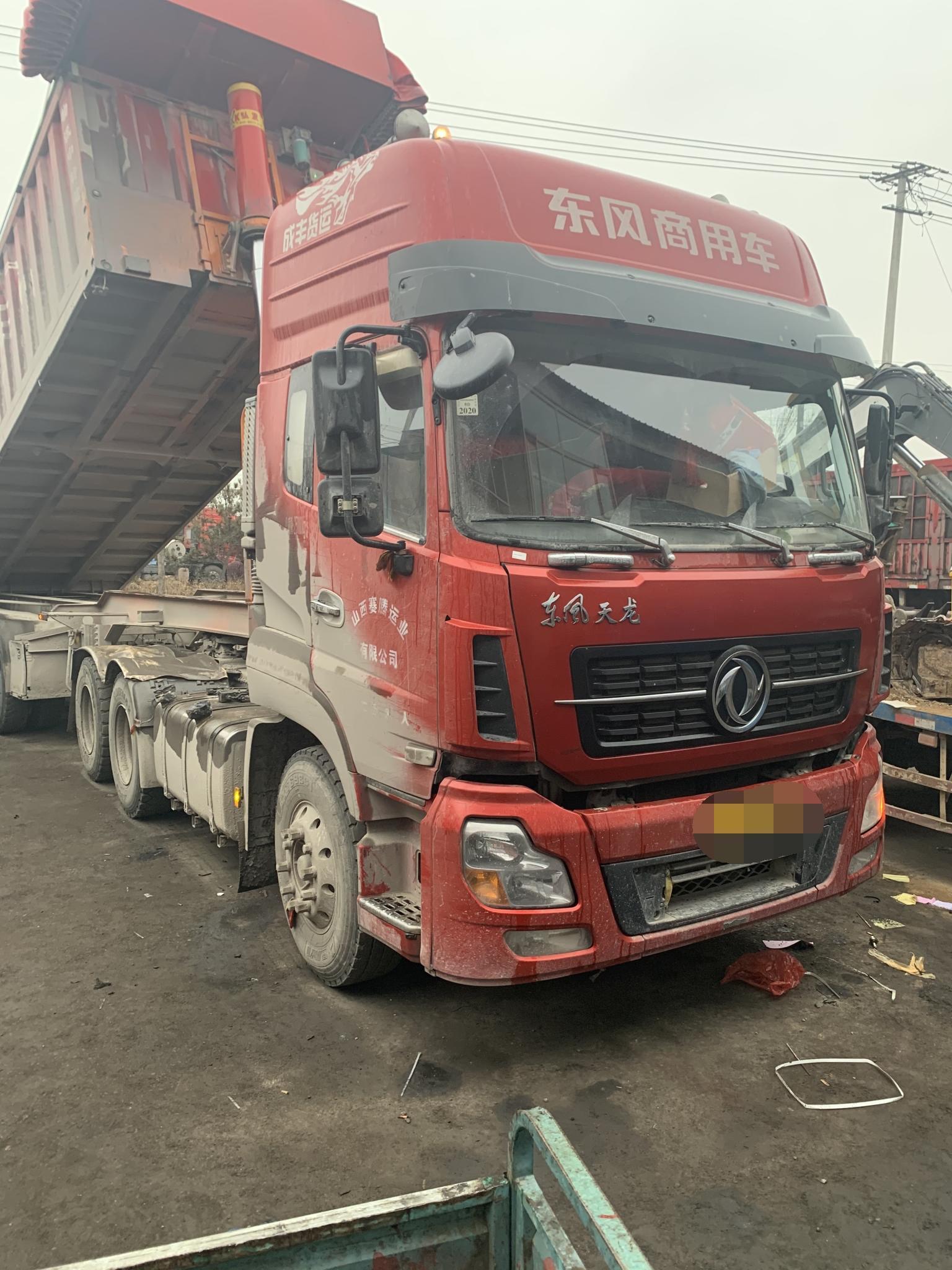 东风天龙 牵引车  420匹 2018年04月 6x4