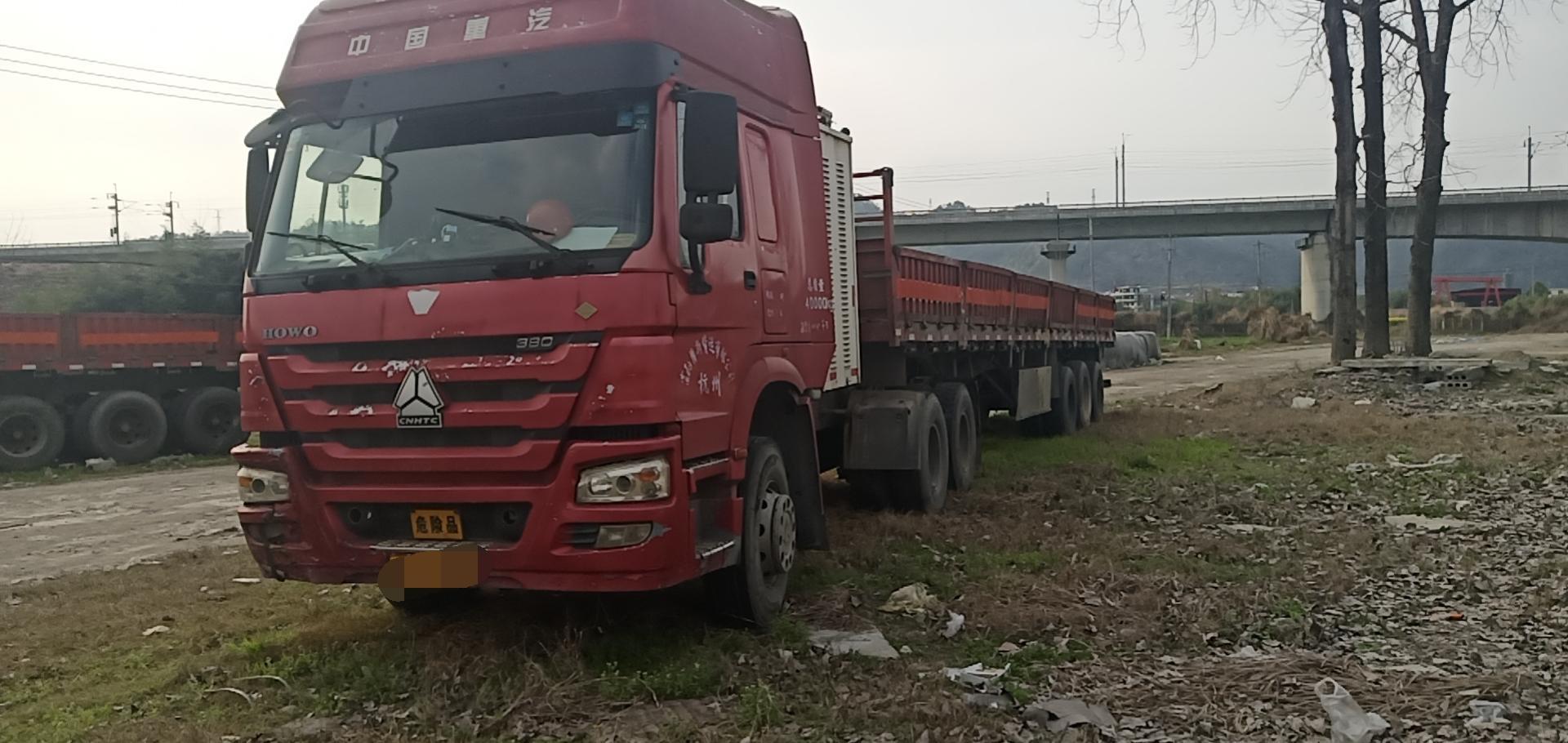 中国重汽HOWO 牵引车  380匹 2014年07月 6x4